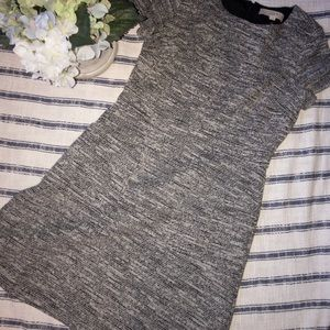 Loft gray marbled dress